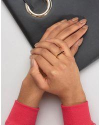 Pieces - Metallic & Julie Sandlau Gold Plated Janu Minimal Ring - Lyst