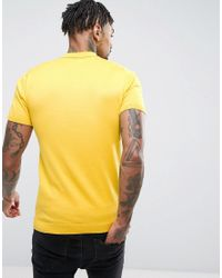 ASOS - Yellow Knitted Polo Shirt In Mustard for Men - Lyst