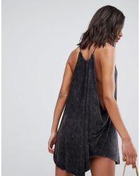 NYTT - Black Christina Drape Neck Dress - Lyst