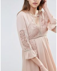 Raga | Natural Love Always Dress With Fluted Sleeve | Lyst