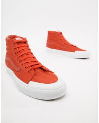 0ccdf66725a0d5 Vans Sk8-hi Reissue 138 Trainers In Orange Vn0a3tkpu7w1 in Orange ...