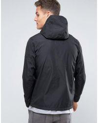 Jack & Jones - Black Rain Jacket for Men - Lyst