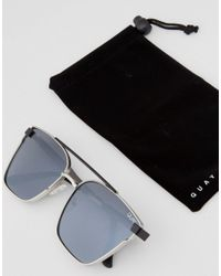 Quay - Metallic Cassius Aviator Sunglasses In Siver Mirror for Men - Lyst