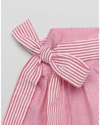 ASOS - Red Pinstripe & Tie Cuffs - Lyst