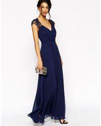 ASOS | Blue Kate Lace Maxi Dress | Lyst
