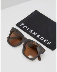ToyShades - Black Havana Square Sunglasses - Lyst