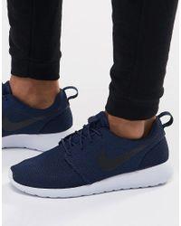Nike   Blue Roshe Run Trainers for Men   Lyst