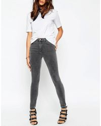 ASOS | Ridley High Waist Skinny Jeans In Slated Gray | Lyst
