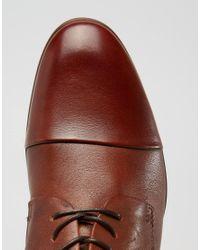 ALDO - Brown Sagona Leather Derby Shoes for Men - Lyst