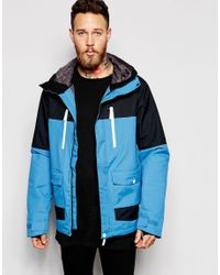 Clwr - Waterproof Jacket With Colourblock - Blue for Men - Lyst
