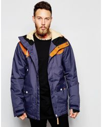 Clwr | Orange Waterproof Jacket With Contrast Shoulders for Men | Lyst