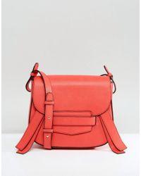 Park Lane - Red Across Body Bag With Tassel - Lyst