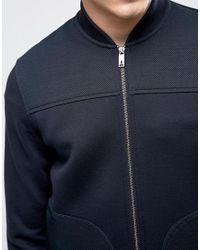 Ted Baker - Blue Neoprene Sport Bomber for Men - Lyst
