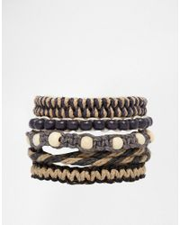 ASOS - Brown Rope Bracelet Pack for Men - Lyst