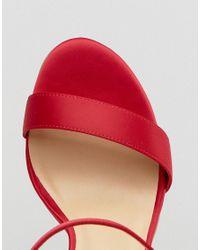 New Look - Red High Minimal Sandal - Lyst