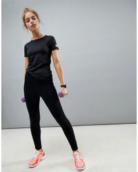 ASOS 4505 - Black Petite Training T-shirt In Tight Fit - Lyst
