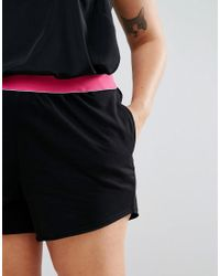 ASOS - Black Rollerskate Short With Tipped Elastic Waistband - Lyst