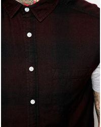 ASOS - Red Sleeveless Shirt In Longline for Men - Lyst