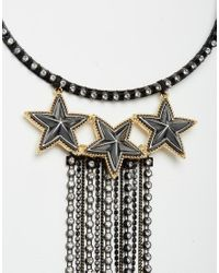 ASOS | Metallic Statement Chain Fringe Torque Necklace | Lyst