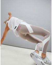 ASOS 4505 Gray Run Legging With Compression Panels