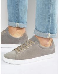 Vagabond - Gray Vince Suede Trainers - Lyst