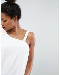 ASOS - White Asymmetric Cowl Back Vest - Lyst