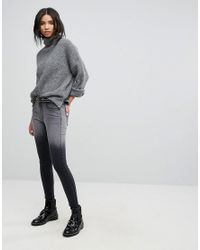 Dr. Denim - Black High Waist Jean With Back Leg Zips - Lyst