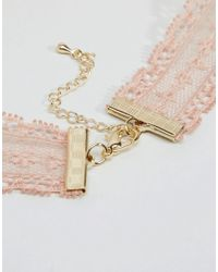 ASOS - Metallic Limited Edition Locket Lace Choker - Lyst