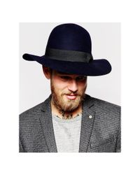 ASOS - Blue Beekeeper Hat With Wide Brim for Men - Lyst