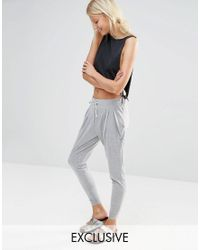 Nocozo - Gray Light Grey Hareem Pants - Lyst