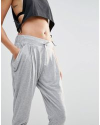 Nocozo - Gray Light Grey Hareem Pants - Lyst
