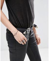 ASOS - Metallic Circle Chain Bracelet - Lyst