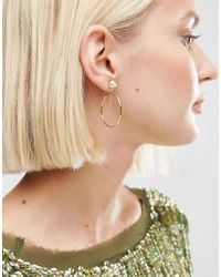 ASOS | Metallic Spike Chain Hoop Earrings | Lyst