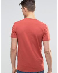 SELECTED - Red Crew Neck T-shirt for Men - Lyst