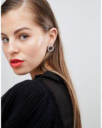 Coast - Metallic Statement Circle Earrings - Lyst