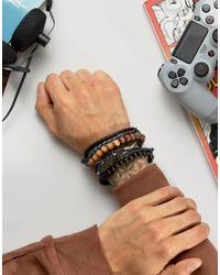 Classics 77 | Multicolor Beaded & Cord Bracelet Pack for Men | Lyst