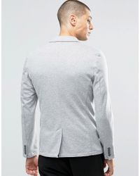 Only & Sons - Gray Slim Jersey Blazer for Men - Lyst