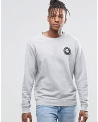Cheap Monday - Gray Per Crew Sweatshirt Mini Skull Grey Melange for Men - Lyst