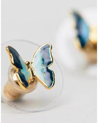 Bill Skinner - Metallic Mini Butterfly Stud Earrings (+) - Lyst