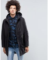 Cheap Monday   Cage Hooded Parka Black for Men   Lyst