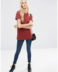 ASOS - Brown The Ultimate Easy Longline T-shirt - Lyst