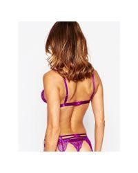 ASOS - Purple Suri Strappy Suspender - Lyst