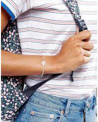 Dogeared - Metallic Sterling Silver St.christopher Charm Bracelet - Lyst