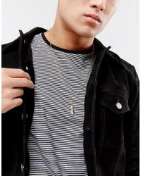 Reclaimed (vintage) - Metallic Inspired Feather Chain Necklace In Gold Exclusive To Asos for Men - Lyst