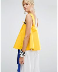 Sportmax Code - Yellow Ketch Pinny Top - Lyst
