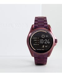0029c188f6b6 Michael Kors. Women s Bradshaw Plum-tone Smartwatch