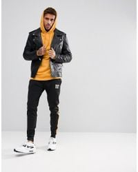 11 Degrees - Hoodie In Yellow for Men - Lyst