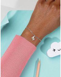 Dogeared - Metallic Sterling Silver Unicorn Reminder On Friendship Bracelet Card - Lyst