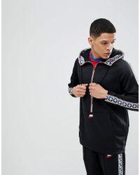 68a643ca9a41 Nike Half Zip Hoodie With Taped Side Stripe In Black Aj2296-010 in ...