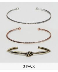 ASOS - Multicolor Bangle Pack In Mixed Finish - Lyst